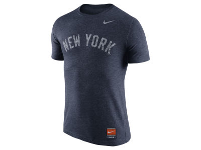 New York Yankees Nike MLB Men's Cooperstown Tri-Blend Wordmark T-Shirt