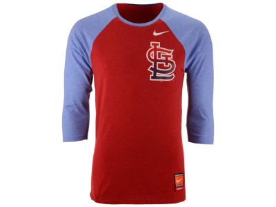 St. Louis Cardinals Nike MLB Men's Coop Tri-Blend Raglan Shirt