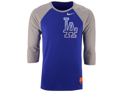 Los Angeles Dodgers Nike MLB Men's Coop Tri-Blend Raglan Shirt