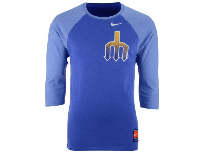 Seattle Mariners Nike MLB Men's Coop Tri-Blend Raglan Shirt