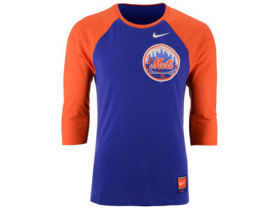 New York Mets Nike MLB Men's Coop Tri-Blend Raglan Shirt