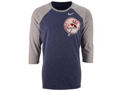 New York Yankees Nike MLB Men's Coop Tri-Blend Raglan Shirt