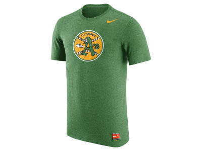 Oakland Athletics Nike MLB Men's Coop Tri-Blend Logo T-Shirt