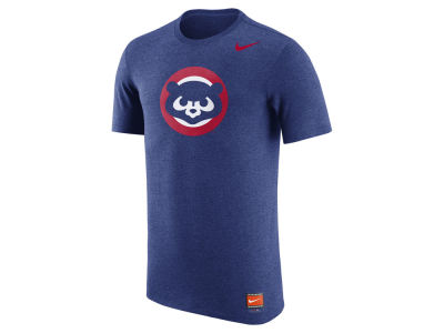 Chicago Cubs Nike MLB Men's Coop Tri-Blend Logo T-Shirt