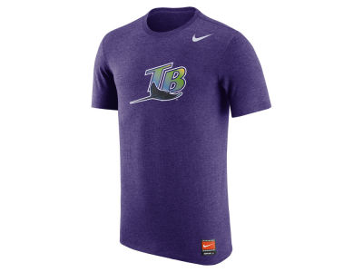 Tampa Bay Rays Nike MLB Men's Coop Tri-Blend Logo T-Shirt