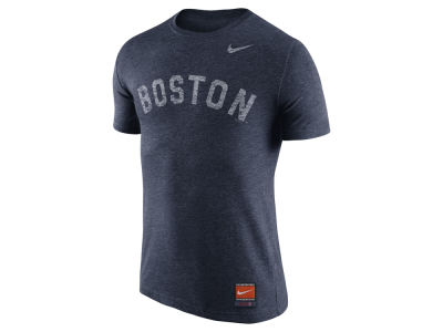 Boston Red Sox Nike MLB Men's Cooperstown Tri-Blend Wordmark T-Shirt