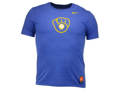 Milwaukee Brewers Glove Nike MLB Men's Coop Tri-Blend Logo T-Shirt