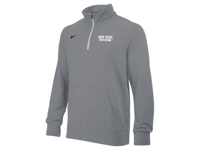 Ohio State Buckeyes NCAA Men's Baseball Stadium Quarter Zip Fleece Pullover Shirt