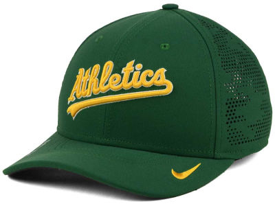 Oakland Athletics Nike MLB Dri-Fit Vapor Classic Swoosh Flex Cap