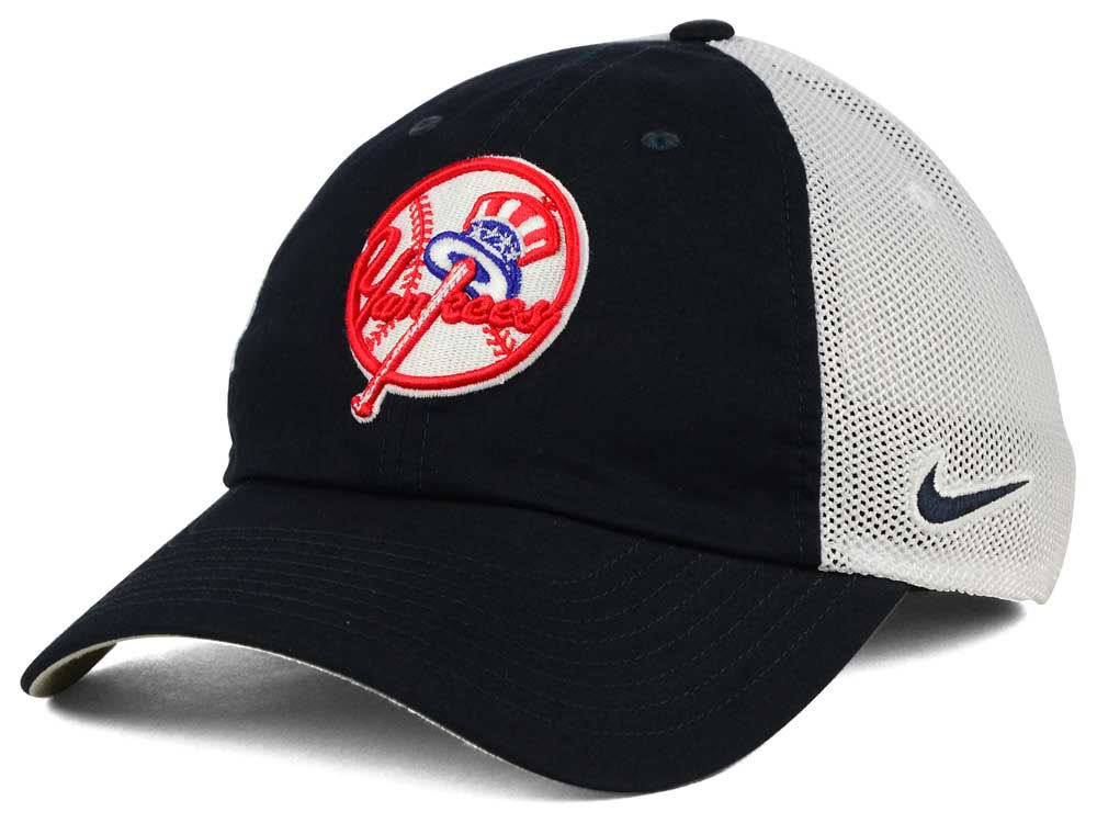 New York Yankees Nike MLB Dri-Fit Mesh Swoosh Adjustable Cap  2630a4b8b32