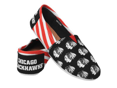 Chicago Blackhawks Canvas Stripe Shoe