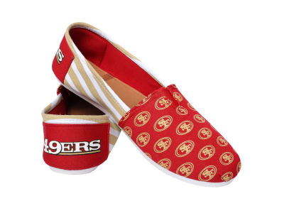 San Francisco 49ers Canvas Stripe Shoe
