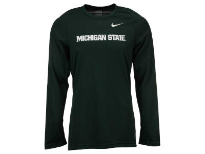 Michigan State Spartans Nike NCAA Men's Elite Basketball Long Sleeve Shooter T-Shirt