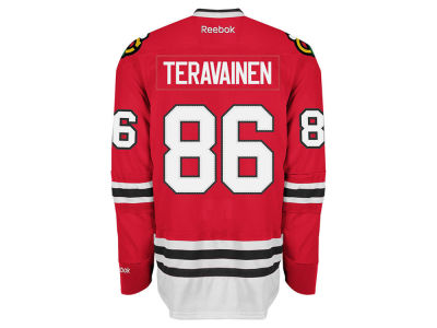 Chicago Blackhawks Teravainen Reebok NHL Men's Premier Player Jersey