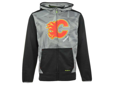 Calgary Flames Reebok NHL Men's CI TNT Full Zip Hoodie