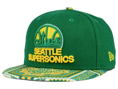 Seattle SuperSonics New Era NBA HWC Kaleidovize 9FIFTY Snapback Cap