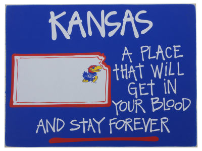 Kansas Jayhawks Map Board