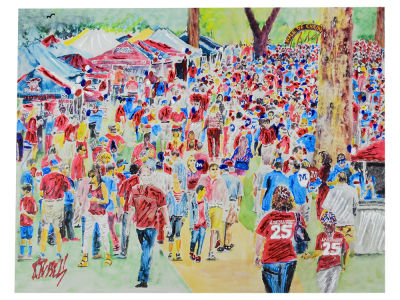 Ole Miss Rebels 14x18 The Grove