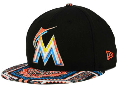Miami Marlins New Era MLB Kaleidovize 9FIFTY Snapback Cap