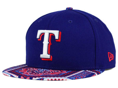 Texas Rangers New Era MLB Kaleidovize 9FIFTY Snapback Cap