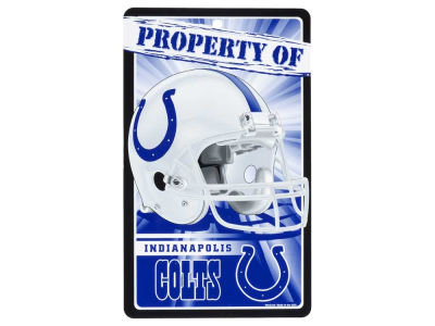 Indianapolis Colts 7.25x12 Plastic Property of Sign