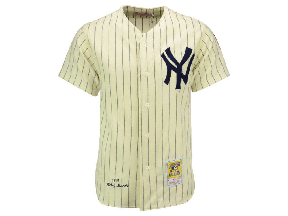 New York Yankees Mickey Mantle Mitchell   Ness MLB Men s Authentic Jersey  a7c25fdb498