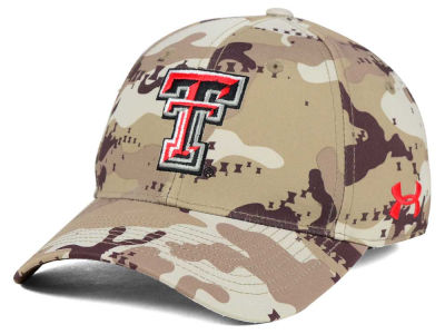 Texas Tech Red Raiders Under Armour NCAA Camo Stretch Cap