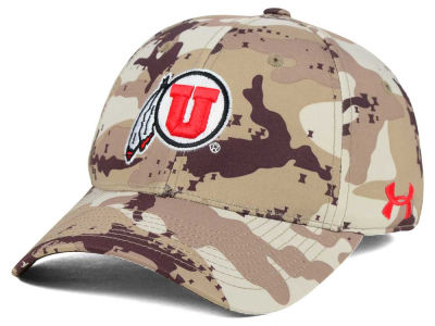 Utah Utes Under Armour NCAA Camo Stretch Cap