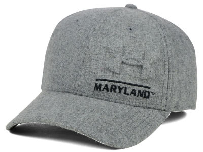 Maryland Terrapins Under Armour NCAA Grayout Stretch Cap
