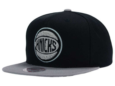 New York Knicks Mitchell and Ness NBA Chrome 8 Chenille Snapback Cap