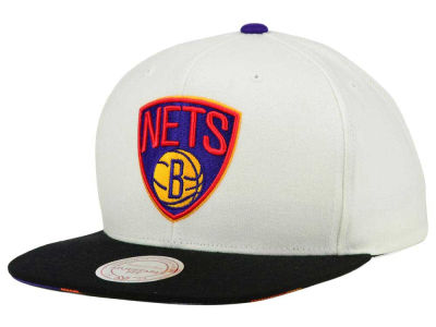 Brooklyn Nets Mitchell and Ness NBA 3X-Charm Snapback Cap