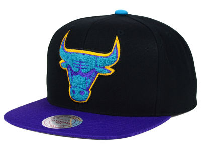 Chicago Bulls Mitchell and Ness NBA Aqua 8 Chenille Snapback Cap