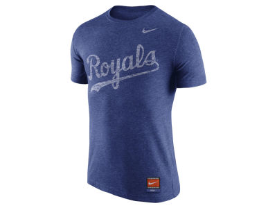 Kansas City Royals Nike MLB Men's Cooperstown Tri-Blend Wordmark T-Shirt