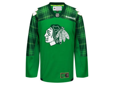 Chicago Blackhawks Reebok NHL Men's St. Patricks Day Jersey