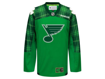 St. Louis Blues Reebok NHL Men's St. Patricks Day Jersey