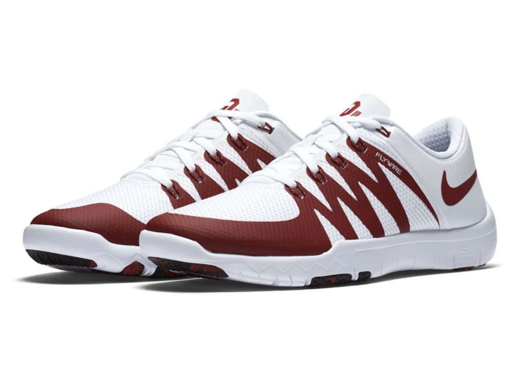 Oklahoma Sooners Nike NCAA Men s Week Zero Free Trainer 5.0 Shoes ... 807b2f9f9