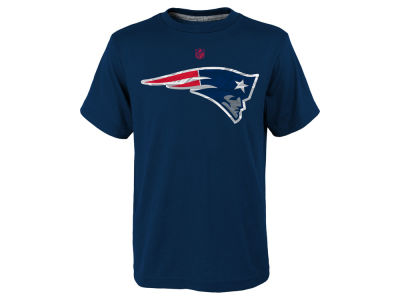 New England Patriots NFL Youth Power Grid Logo Basic T-Shirt