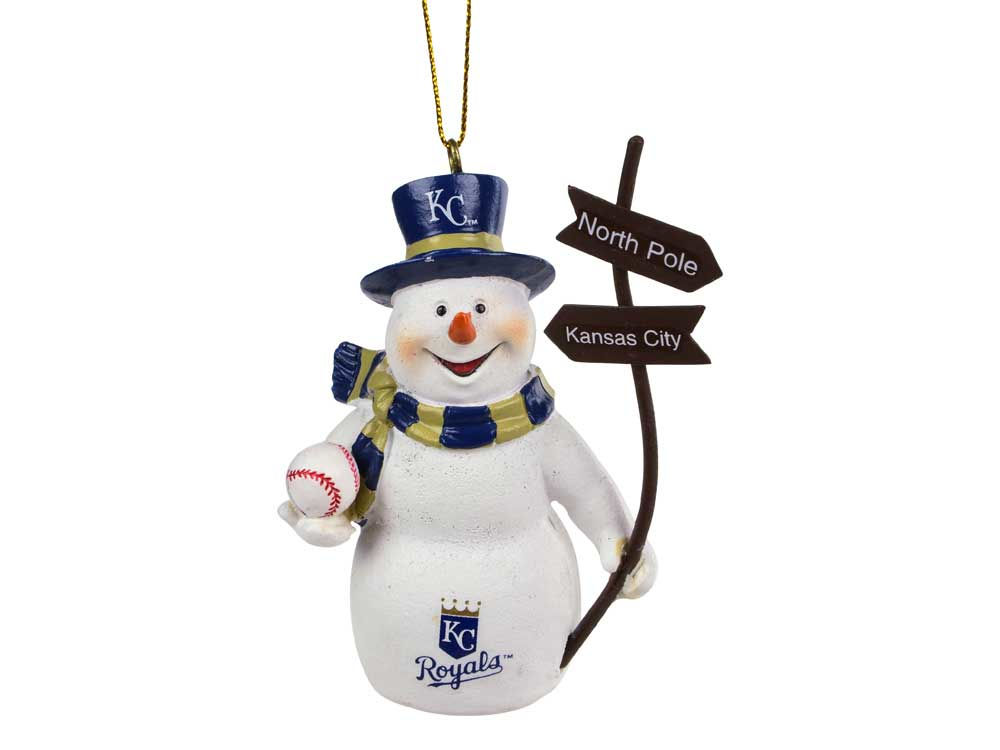 Kansas City Royals Snowman with Sign Ornament | lids.com