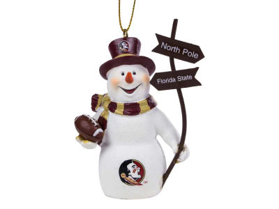 Florida State Seminoles Snowman with Sign Ornament