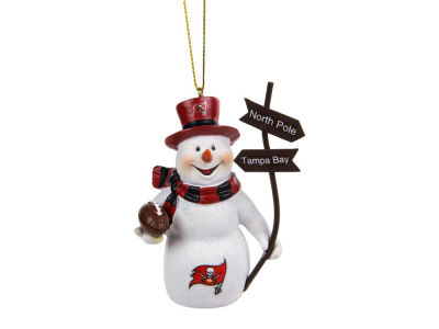 Tampa Bay Buccaneers Snowman with Sign Ornament