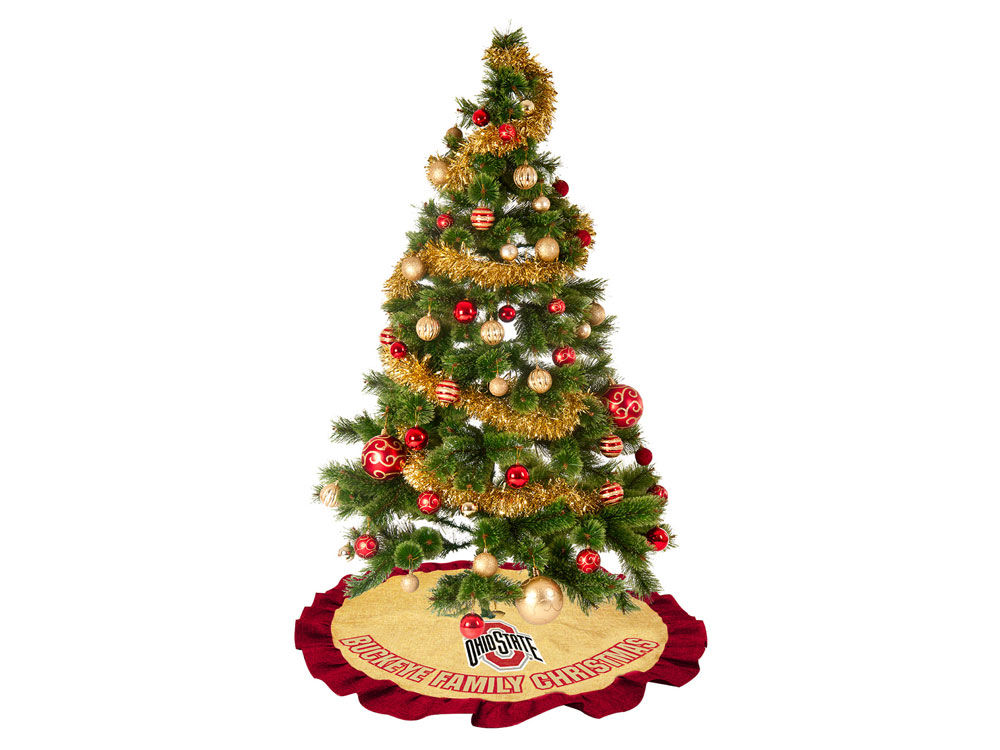 Ohio State Buckeyes Tree Skirt | lids.com