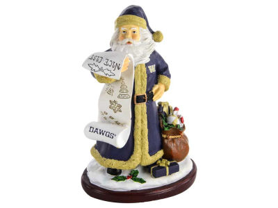 Washington Huskies 6inch Santa Figurine
