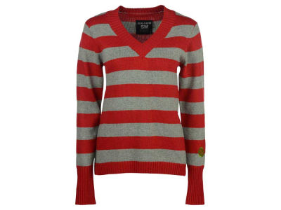 Ohio State Buckeyes NCAA Women's Striped V-Neck Sweater