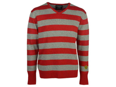 Ohio State Buckeyes NCAA Men's Striped V-Neck Sweater