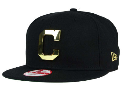 Cleveland Indians New Era MLB League O'Gold 9FIFTY Snapback Cap