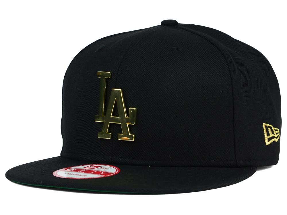 Los Angeles Dodgers New Era MLB League O Gold 9FIFTY Snapback Cap ... 096a2263a0c5