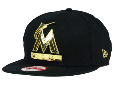 Miami Marlins New Era MLB League O'Gold 9FIFTY Snapback Cap