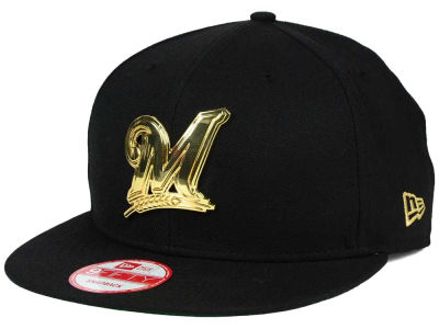 Milwaukee Brewers New Era MLB League O'Gold 9FIFTY Snapback Cap