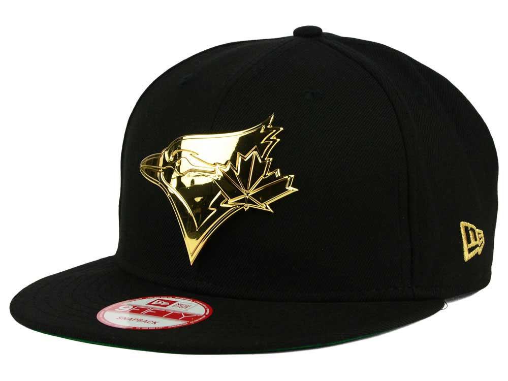 594a7f03ef6 Toronto Blue Jays New Era MLB League O Gold 9FIFTY Snapback Cap ...