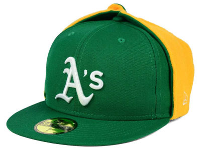 Oakland Athletics New Era MLB Team Dog Ear 59FIFTY Cap